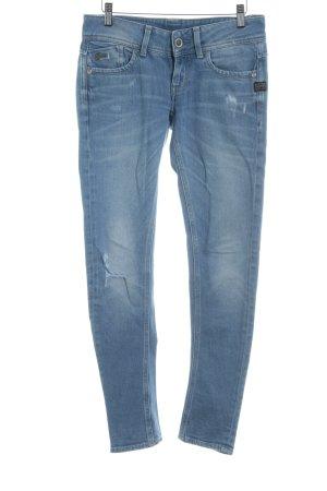 G-Star Jeansy o obcisłym kroju chabrowy Aplikacja z logo