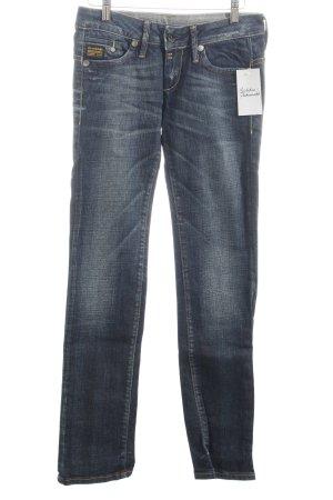 G-Star Slim Jeans blau-wollweiß Casual-Look