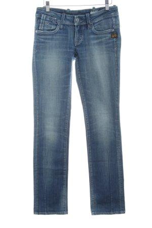 G-Star Slim Jeans stahlblau Washed-Optik