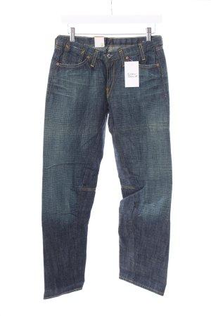 """G-Star Jeansy z prostymi nogawkami """"A' WMN Pant"""" ciemnoniebieski"""