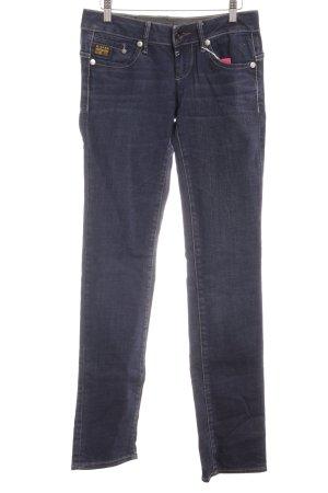 G-Star Jeansy z prostymi nogawkami ciemnoniebieski W stylu casual