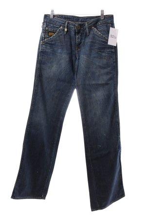G-Star Jeansy z prostymi nogawkami ciemnoniebieski Aplikacja z logo