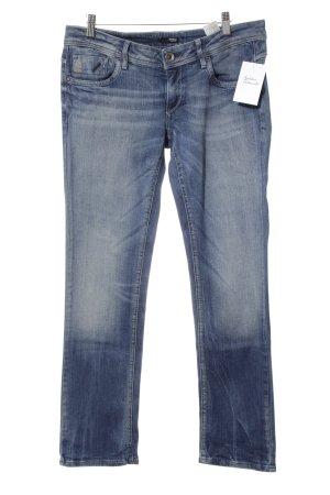G-Star Jeans coupe-droite bleu acier style délavé