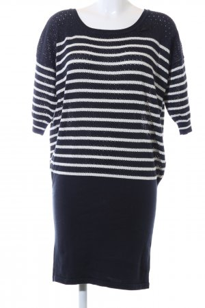 G-Star Knitted Dress blue-white striped pattern casual look
