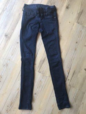 G-Star Raw Jeans taille basse bleu foncé coton