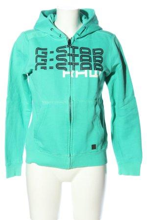G-Star Sweatjacke Schriftzug gedruckt Casual-Look