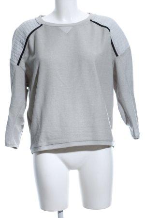 G-Star Sweatshirt hellgrau-schwarz Steppmuster Casual-Look