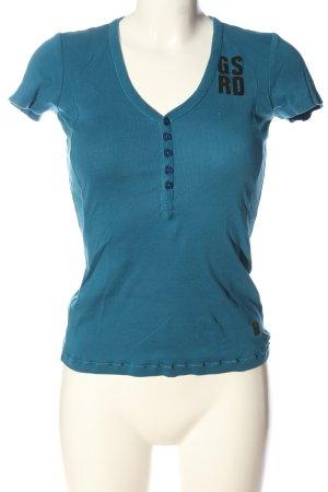 G-Star T-shirt niebieski Wydrukowane logo W stylu casual
