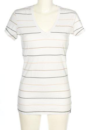 G-Star T-Shirt Streifenmuster Casual-Look
