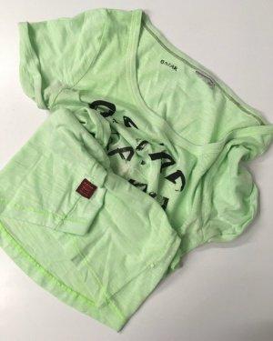 Gstar Koszulka basic bladozielony Bawełna