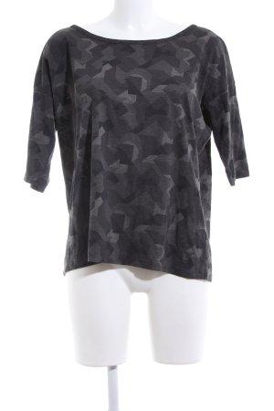 G-Star T-Shirt hellgrau-schwarz abstraktes Muster Casual-Look