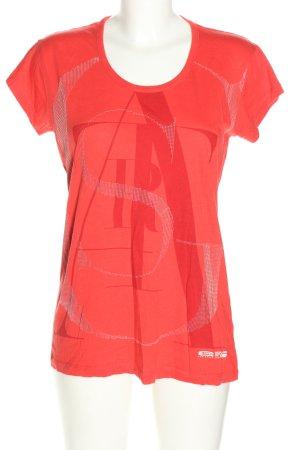 G-Star T-Shirt hellorange-weiß Schriftzug gedruckt Casual-Look