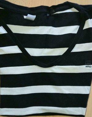 G-Star, T Shirt, Gr. M, Schwarz Weiß, Gestreift