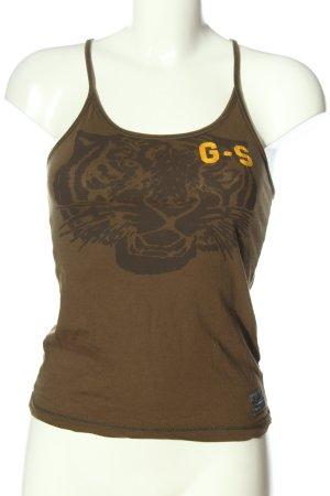 G-Star Trägertop bronzefarben-braun Motivdruck Casual-Look