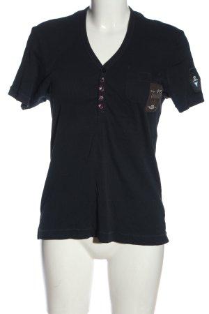 G-Star T-shirt col en V noir style décontracté