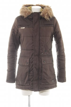 G-Star Winterjacke braun Steppmuster Casual-Look
