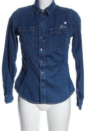 G-STAR WOMEN Camisa vaquera azul look casual