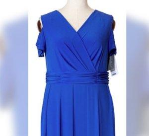 G.Visconti elegantes Kleid Party Abendkleid Cocktail Gr 46 /48 NEU mit  modischen Cut-Out-Shoulder