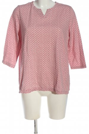 G.W. Koszulka typu batik różowy-w kolorze białej wełny Abstrakcyjny wzór