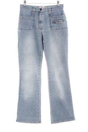 G.W. Hoge taille jeans lichtblauw simpele stijl