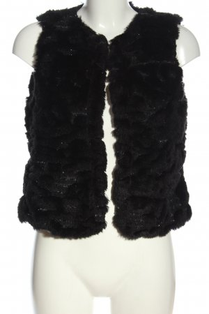 G.W. Fake Fur Vest black casual look