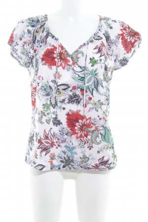 G.W. Kurzarm-Bluse florales Muster Casual-Look