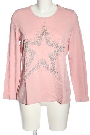 G.W. Longsleeve pink-hellgrau Motivdruck Casual-Look