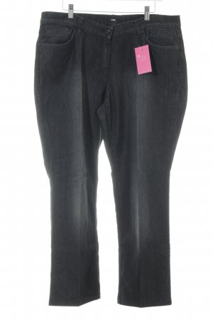 G.W. Straight-Leg Jeans schwarz Washed-Optik