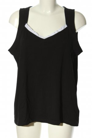 G.W. T-Shirt schwarz-weiß Casual-Look