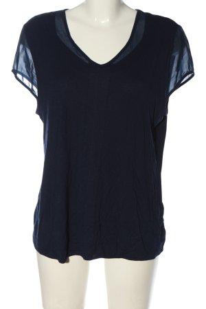 G.W. V-Ausschnitt-Shirt blau Elegant