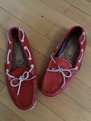 Gaastra Bootsschuhe rot weiß Mokassins 38