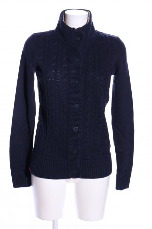 Gaastra Coarse Knitted Jacket blue cable stitch casual look