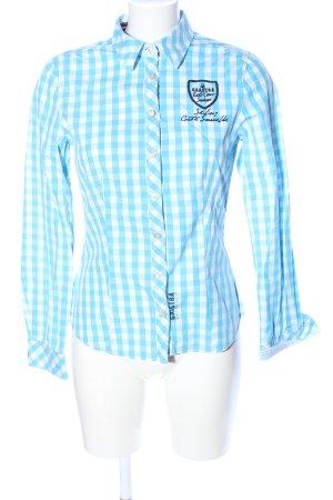 Gaastra Hemd-Bluse weiß-blau Allover-Druck Casual-Look