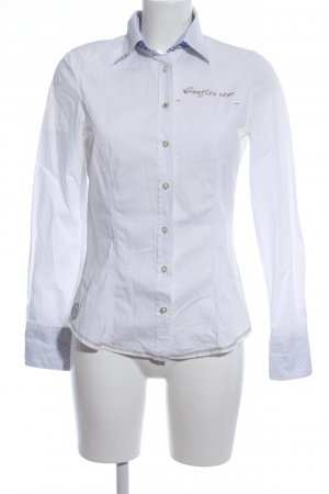 Gaastra Hemd-Bluse weiß-hellgrau Motivdruck Casual-Look