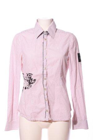 Gaastra Hemd-Bluse pink-weiß Streifenmuster Business-Look