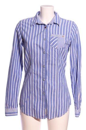 Gaastra Hemd-Bluse blau-weiß Streifenmuster Casual-Look