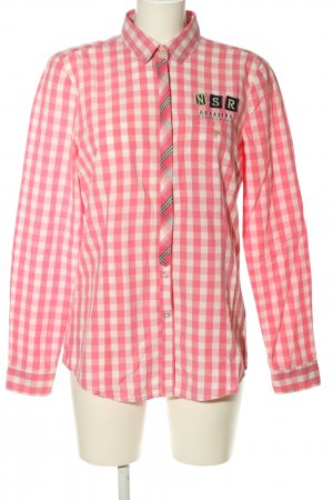 Gaastra Hemd-Bluse pink-weiß Allover-Druck Casual-Look