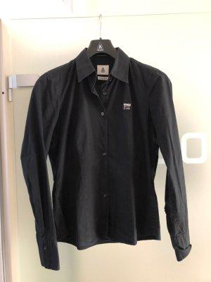 Gaastra Hemdbluse M, schwarz mit Stickerei