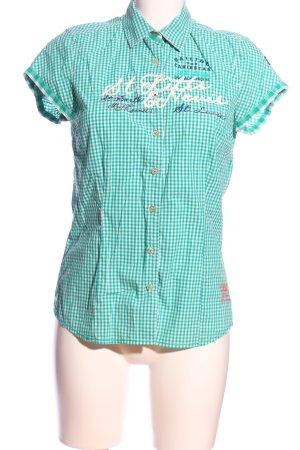 Gaastra Koszula w kratę turkusowy-biały Wzór w kratkę W stylu casual