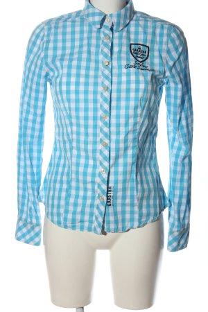 Gaastra Camicia da boscaiolo blu-bianco motivo a quadri stile casual