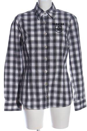 Gaastra Holzfällerhemd schwarz-weiß Allover-Druck Casual-Look