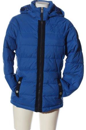 Gaastra Kapuzenjacke blau-schwarz Steppmuster Casual-Look