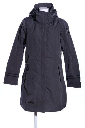 Gaastra Płaszcz z kapturem czarny W stylu casual