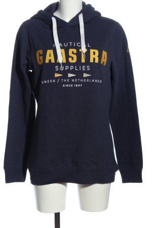 Gaastra Bluza z kapturem niebieski-bladożółty Wydrukowane logo W stylu casual