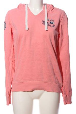 Gaastra Kapuzensweatshirt pink Schriftzug gestickt Casual-Look