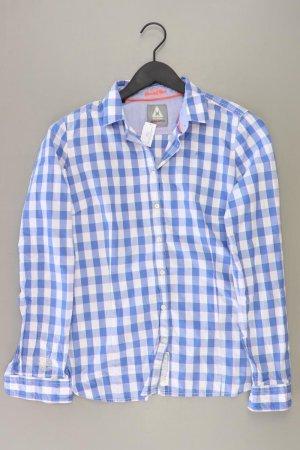 Gaastra Checked Blouse blue-neon blue-dark blue-azure cotton
