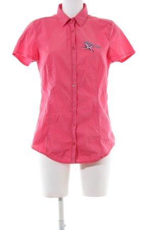 Gaastra Kurzarm-Bluse pink Schriftzug gedruckt Casual-Look