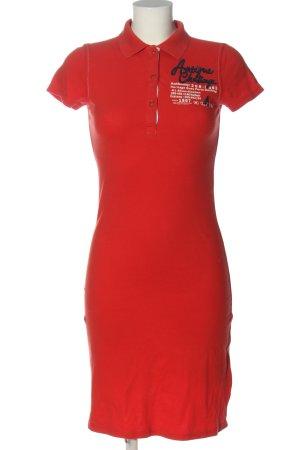 Gaastra Shortsleeve Dress red printed lettering casual look