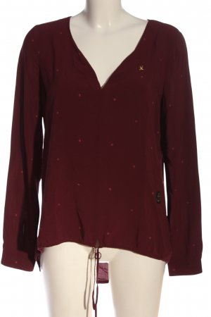Gaastra Langarm-Bluse rot Allover-Druck Casual-Look