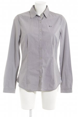 Gaastra Langarm-Bluse grau-weiß Casual-Look